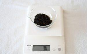 1_茶葉を計る