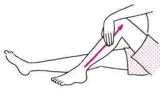 脚の外側を引き上げる