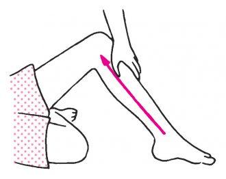 脚の内側を引き上げる