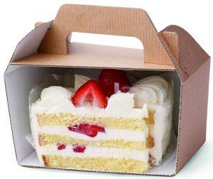 ショートケーキの断面