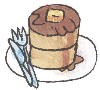 喫茶店ホットケーキ