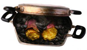 焼き芋の断面