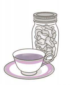 乾燥生姜と紅茶