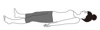 シャヴァ・アーサナ(自然呼吸で5呼吸お休み)
