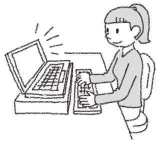 姿勢によいノートパソコンの使い方