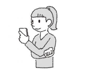 姿勢によいスマートフォンの使い方