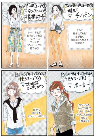 1枚あれば一気にオシャレ♡ 着回し力抜群の白シャツ!3