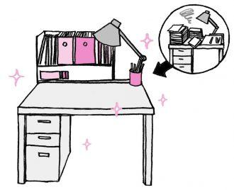 「使いやすい机」とは、きれいに片付けられており、新しい仕事にもすぐに取りかかれる状態のことです。