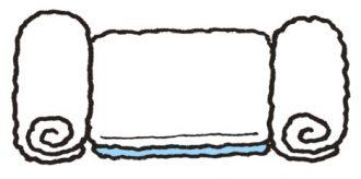 バスタオル枕の作り方4