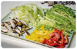 白菜とイカのパスタ2