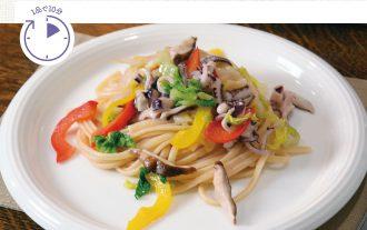 白菜とイカのパスタ