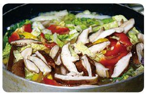 白菜とイカのパスタ6