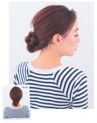 三つ編みシニヨン