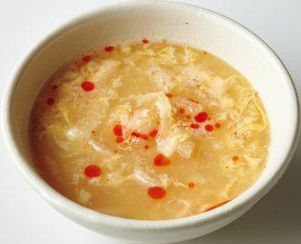 玉ねぎとしょうがのすっぱ辛いスープ