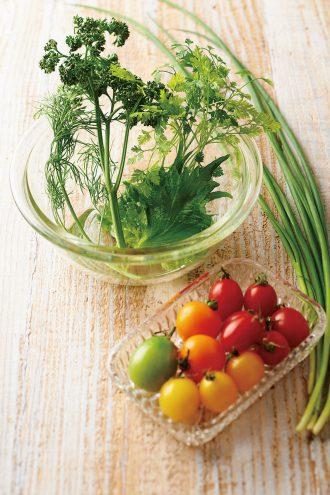 葉野菜やミニトマト