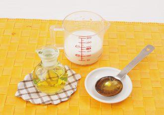 りんご酢ミルク_材料