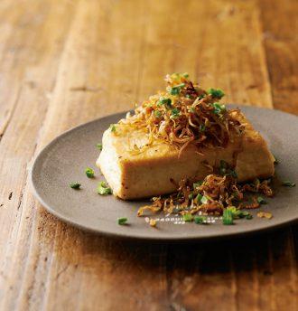 カリカリじゃこ豆腐ステーキ