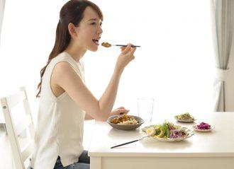 食事に集中していますか?