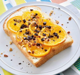 クリームチーズオレンジトースト