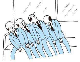 電車のおやじドミノ