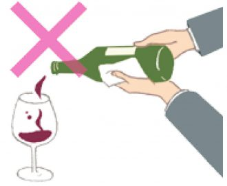お酌の仕方_ワイン