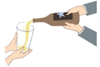 お酌の仕方_ビール