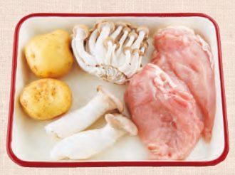 鶏肉とじゃがいもの塩レモン煮_材料