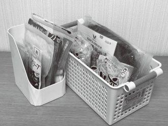 収納バスケットで冷蔵庫のなかの小物も整理できる