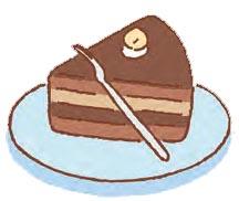 左端または手前から、ひと口 1大に切っていただく。食べ終えたら、フォークを銀紙で包み、皿の手前側に置く。