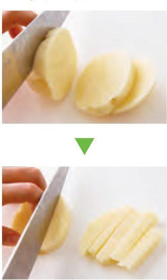 チーズ風味きんぴら_棒状に切る