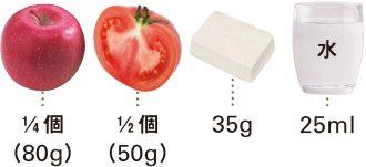 りんご+トマト+木綿豆腐_材料