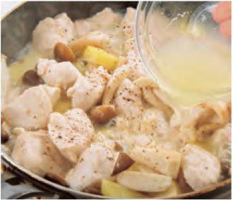 鶏肉とじゃがいもの塩レモン煮_作り方3