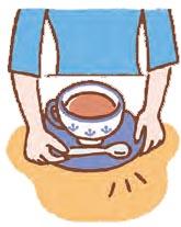 スプーンはカップの向こう側に置く。
