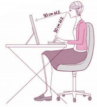 パソコンを使うときの姿勢